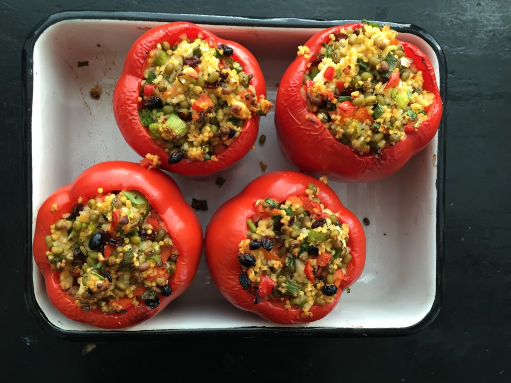 Stuffed Roasted Red Peppers