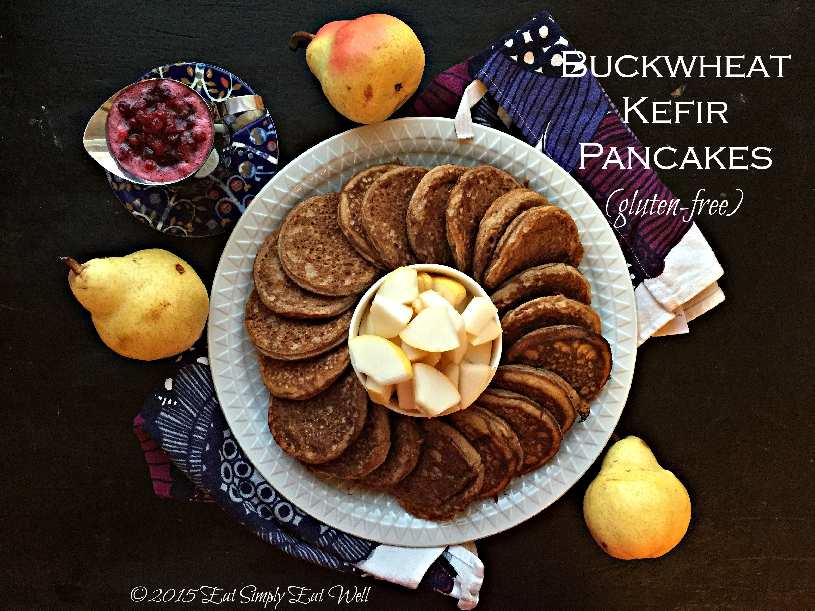 Buckwheat Kefir Pancakes with Lingonberry Maple Syrup